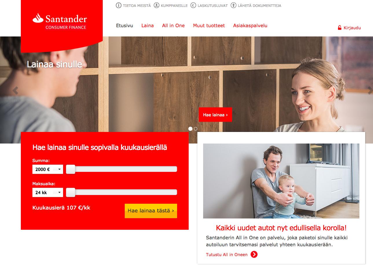 Santander Autorahoitus Kokemuksia
